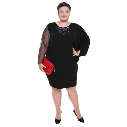 Sukienka z okrągłym dekoltem z długim rękawem Odzież Damska PL PYAU