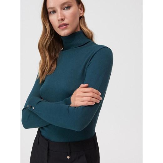 Sweter damski Mohito Odzież Damska NO turkusowy FFEK