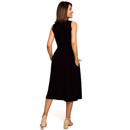 Sukienka Style w serek Odzież Damska RY czarny XUTY
