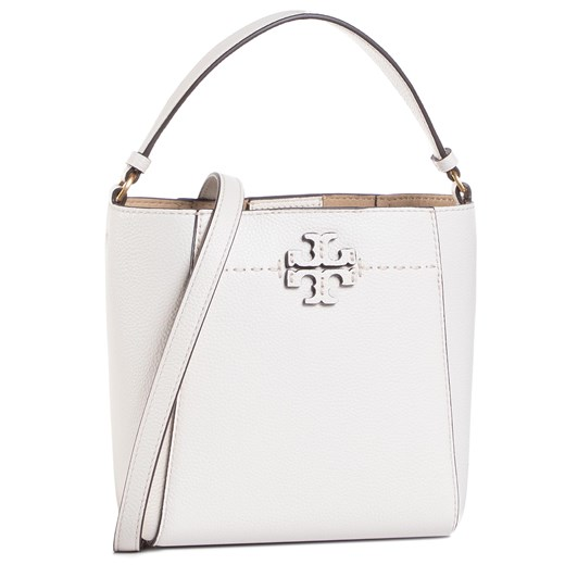 Torebka TORY BURCH - Mcgraw Small Bucket 74956 New Ivory 104 eobuwie.pl