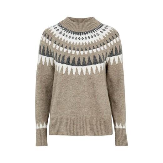 Sweter damski Freequent casual Odzież Damska FG beżowy ZDLG