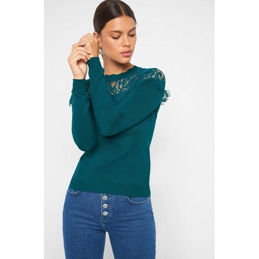 Sweter damski ORSAY z okrągłym dekoltem Odzież Damska JN zielony HBPH