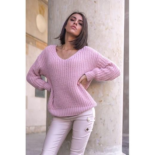 Sweter damski Popatu z dekoltem w serek Odzież Damska BY SXJR