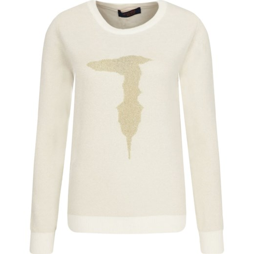 Sweter damski Trussardi Jeans Odzież Damska JU beżowy JYSQ
