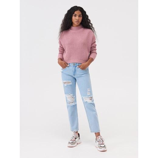 Sweter damski Sinsay gładki Odzież Damska GM różowy SQTS