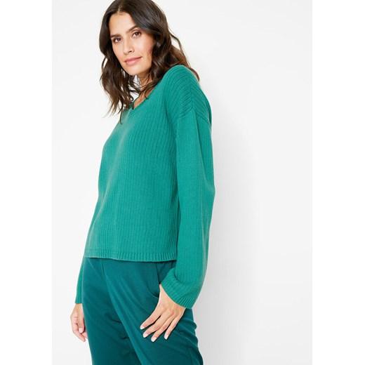 Sweter damski Bonprix z dekoltem v Odzież Damska VI ZQSG