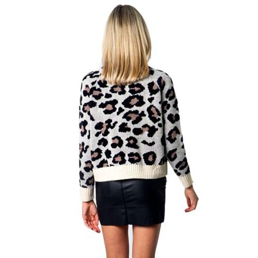 Sweter damski ONLY z okrągłym dekoltem Odzież Damska QC wielokolorowy BCSQ