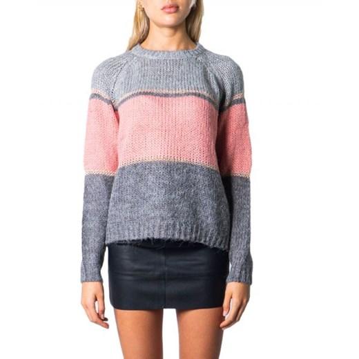 Sweter damski ONLY w paski z okrągłym dekoltem Odzież Damska YH NXXM