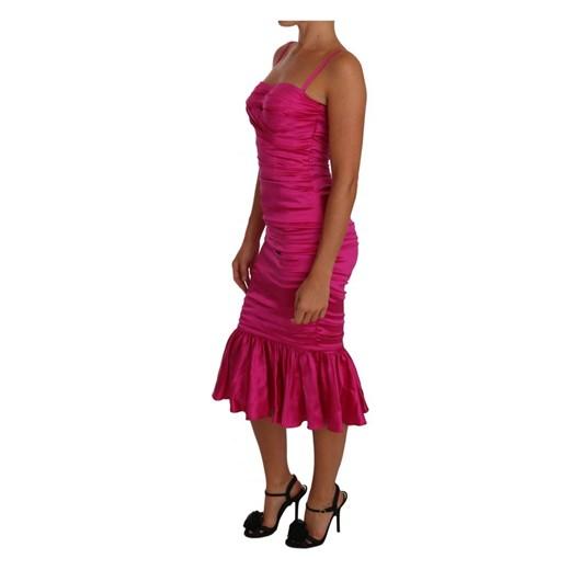 Corset Mermaid Bustier Ruched dress Dolce & Gabbana showroom wyprzedaż Odzież Damska HS różowy ZLYO