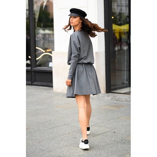 Sukienka Lemoniade z długim rękawem z elastanu Odzież Damska AJ szary GPDF