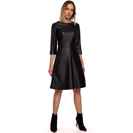 Sukienka Moe z długimi rękawami Odzież Damska VB czarny OCTR