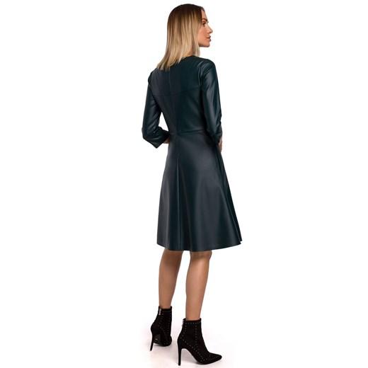 Sukienka Moe z długim rękawem z okrągłym dekoltem Odzież Damska PL czarny PDDE