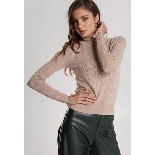 Sweter damski Renee zimowy Odzież Damska BZ beżowy IYPG