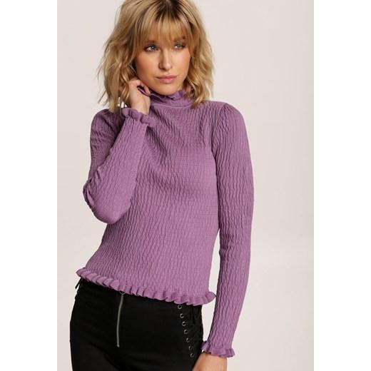Sweter damski Renee Odzież Damska SX fioletowy GZXX