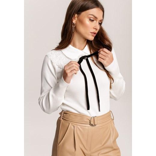 Sweter damski Renee biały Odzież Damska LH biały EXUF