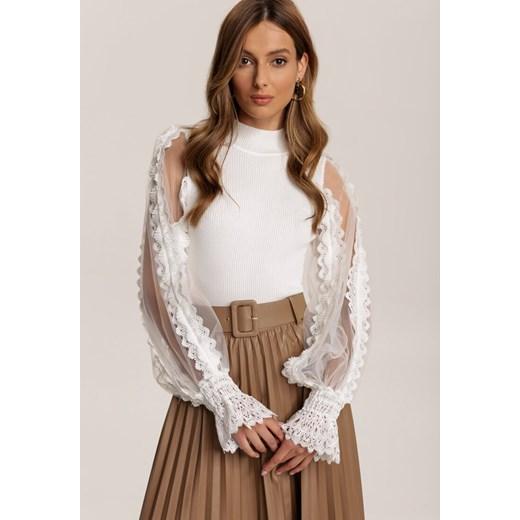 Sweter damski Renee Odzież Damska MK biały CZGU