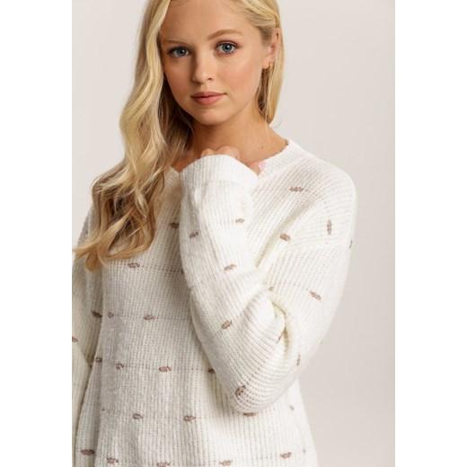 Sweter damski Renee biały Odzież Damska RL biały HUVZ
