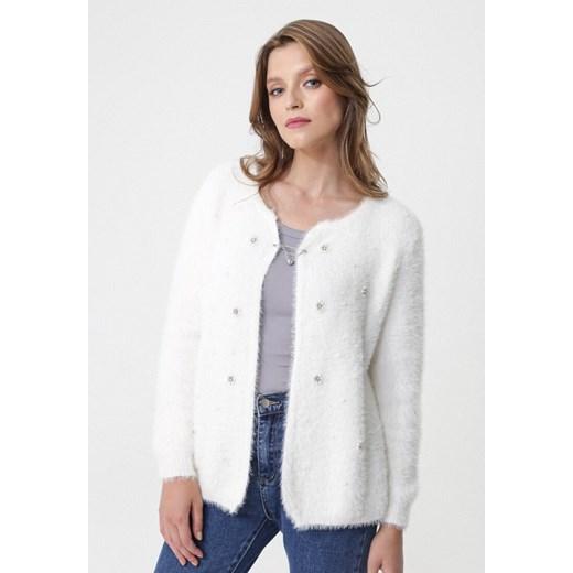 Sweter damski Born2be biały casual Odzież Damska RI biały XJWV