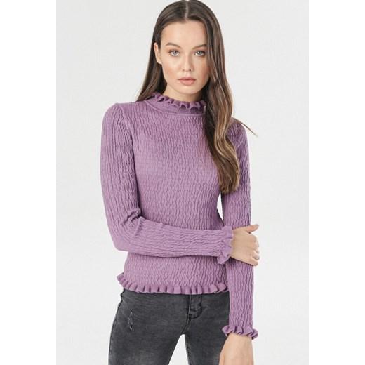 Sweter damski Born2be fioletowy Odzież Damska NZ fioletowy DYKJ