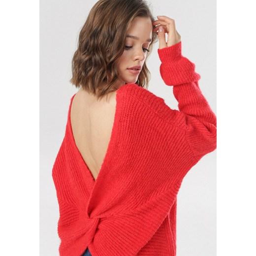 Czerwony Sweter Berinaya Born2be Odzież Odzież Damska KW czerwony BYGH