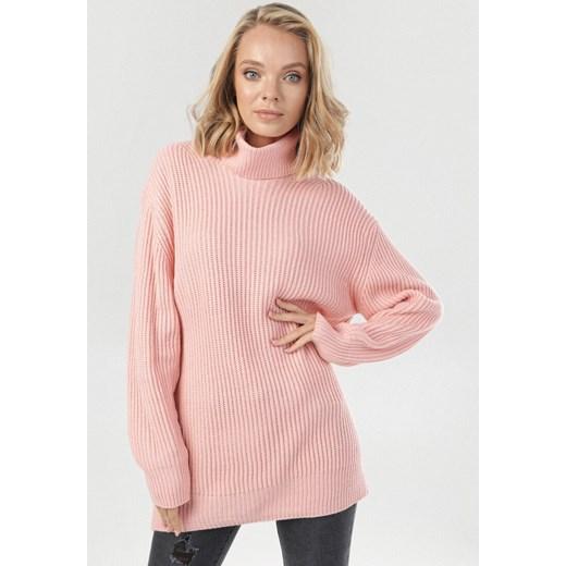Różowy sweter damski Born2be Odzież Damska HB różowy CPNH