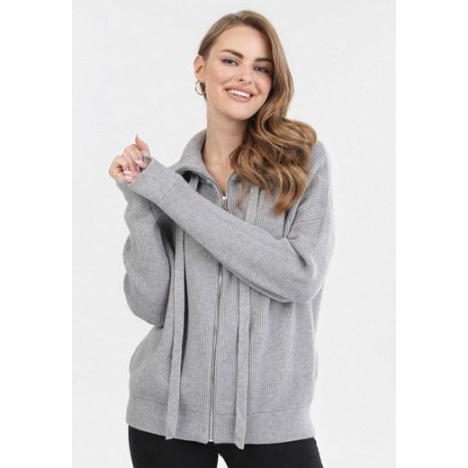 Sweter damski Born2be Odzież Damska NI szary HDWP