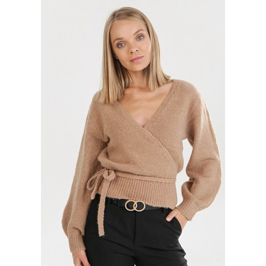 Sweter damski Born2be Odzież Damska QO beżowy CCQL
