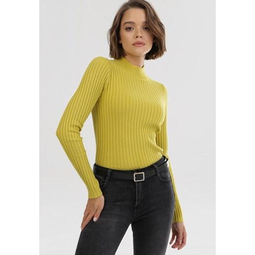 Sweter damski Born2be Odzież Damska RI zielony JZBY