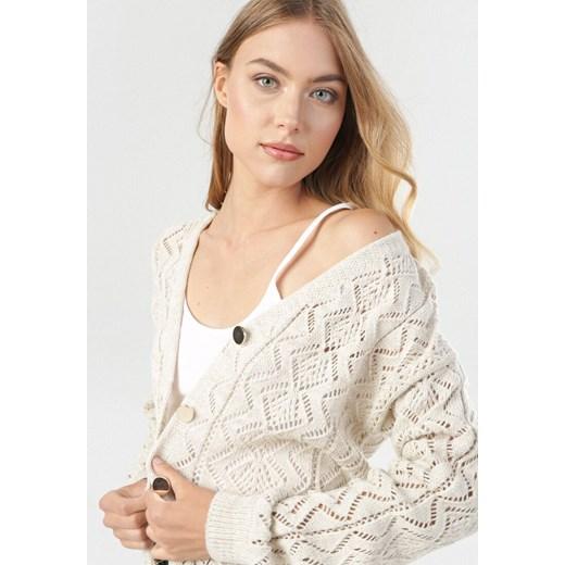 Sweter damski Born2be Odzież Damska GV beżowy ABQW