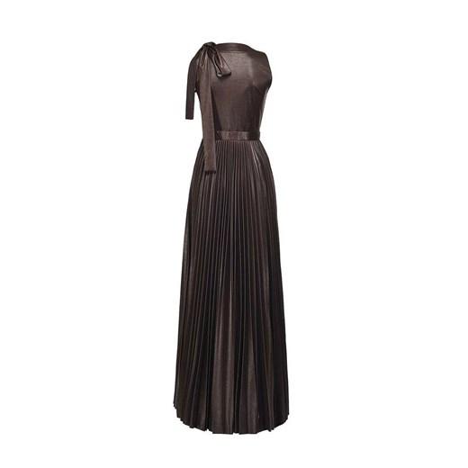 Long dress woman Pinko showroom Odzież Damska LL brązowy DDYE
