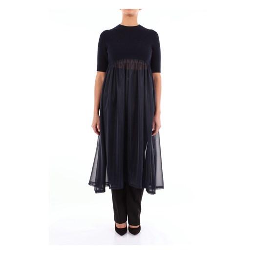 Short sleeve dress JSWN711325WN467608 Jil Sander promocja showroom Odzież Damska IR niebieski UPIW
