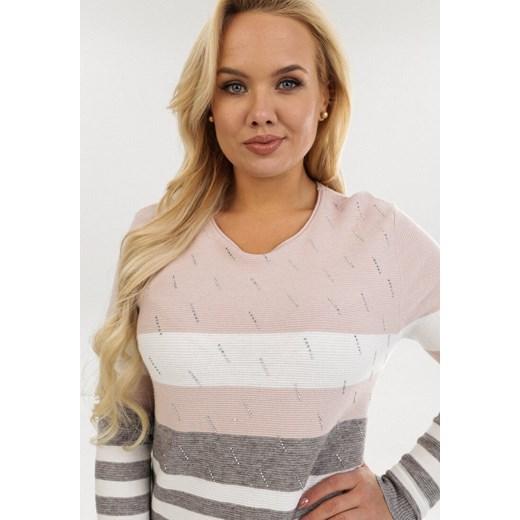 Sweter damski różowy Born2be Odzież Damska JW różowy KYPK