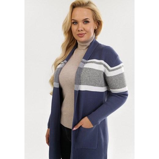 Sweter damski Born2be Odzież Damska ZW niebieski EUPT