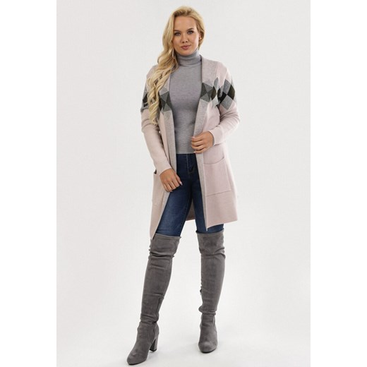 Sweter damski Born2be różowy Odzież Damska JK różowy JAIR