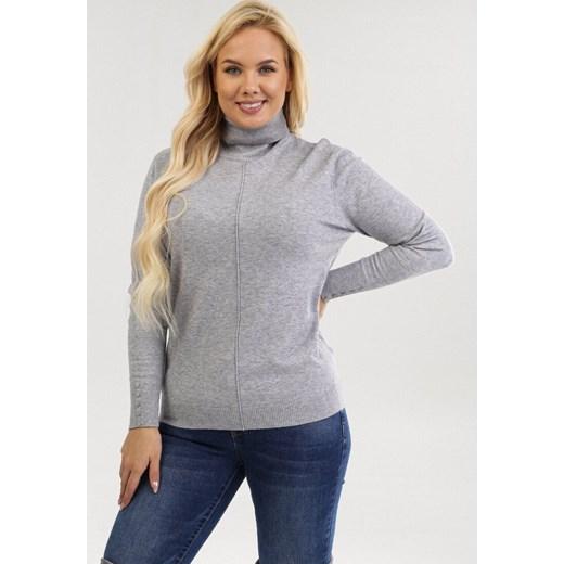 Born2be sweter damski szary Odzież Damska XL szary YXFA