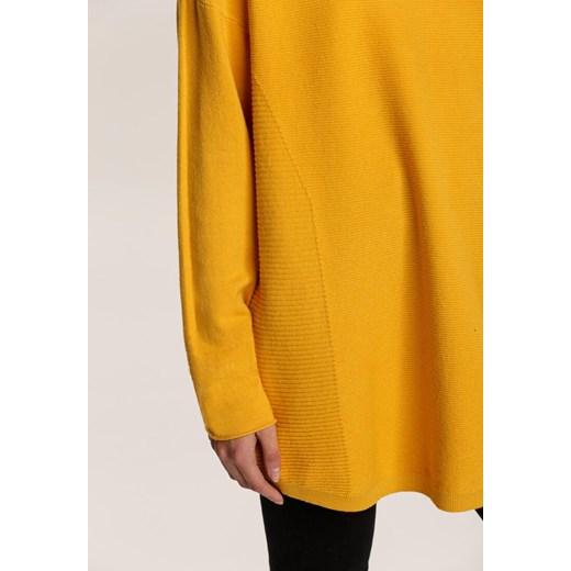 Sweter damski Renee żółty z okrągłym dekoltem Odzież Damska OE żółty QPKN