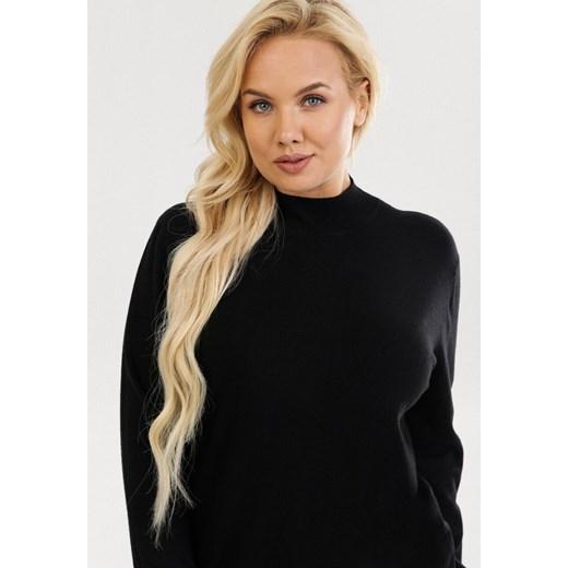 Sweter damski Born2be bez wzorów Odzież Damska KW czarny ECOF