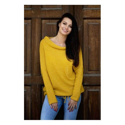 Sweter nietoperz Kati, miodowy butik-choice Odzież Damska PZ żółty VWRK