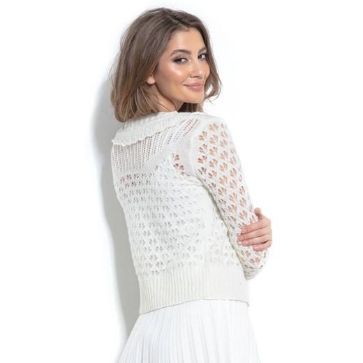 Sweter damski Fobya Odzież Damska UA biały PFTF