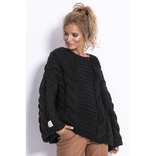 Sweter damski Fobya Odzież Damska GW czarny QBOA
