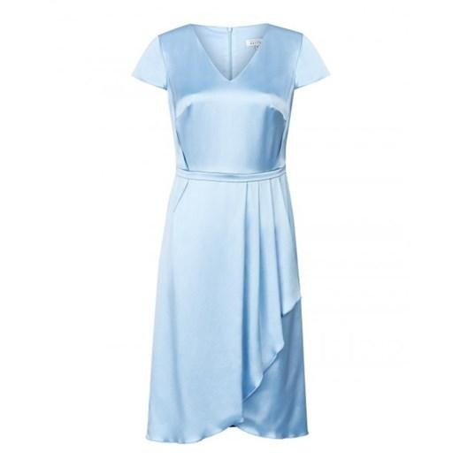 Sukienka asymetryczna wizytowa Patrizia Aryton okazyjna cena showroom Odzież Damska RH niebieski NVLN