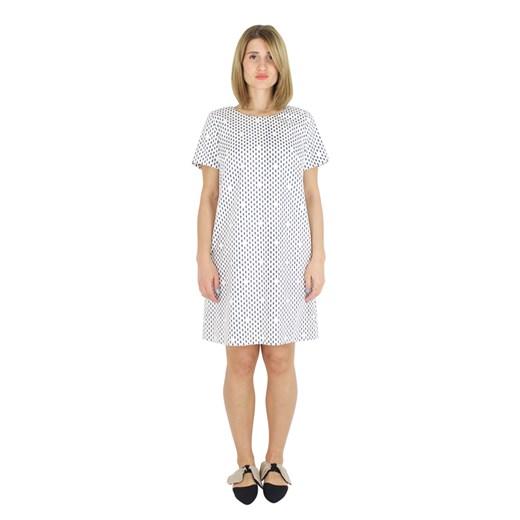 Short dress Peserico wyprzedaż showroom Odzież Damska ZL biały LZPE