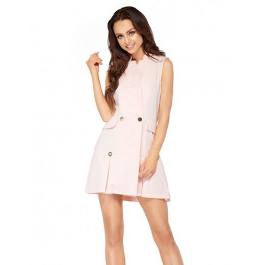 Sukienka bez rękawów L305 Lemoniade wyprzedaż showroom Odzież Damska DZ różowy DCIM