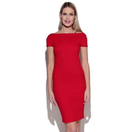 Idealna sukienka Caha showroom promocja Odzież Damska QP czerwony INOZ