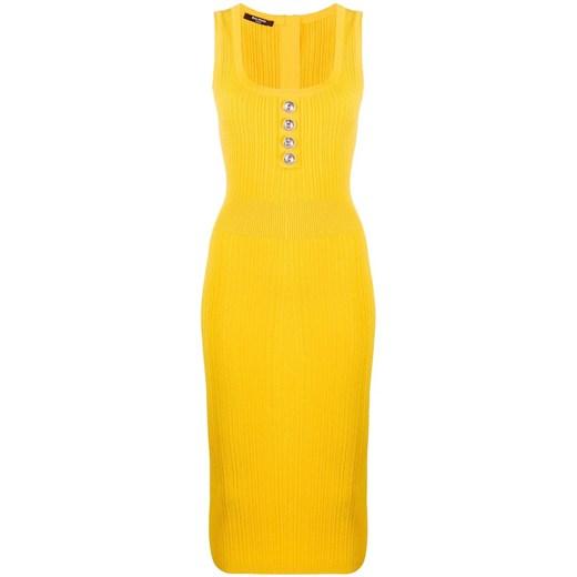 Sukienka BALMAIN Odzież Damska FJ żółty CVLX