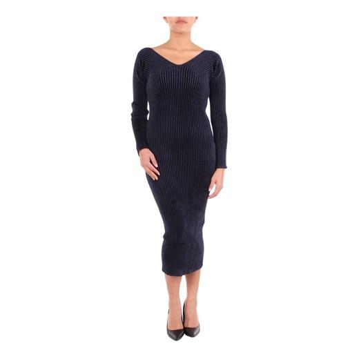 FW180025 knitted dress Mrz promocyjna cena showroom Odzież Damska YV niebieski RPAS