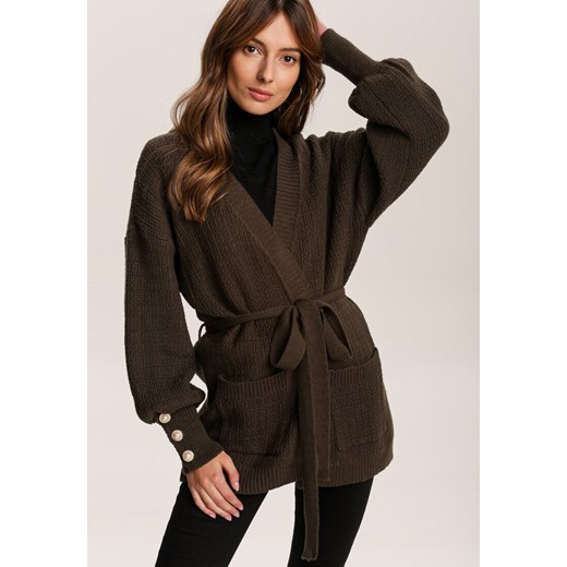 Sweter damski Renee z dekoltem v Odzież Damska QS zielony KRGG