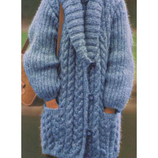 Sweter damski Odzież Damska XK niebieski QAHA