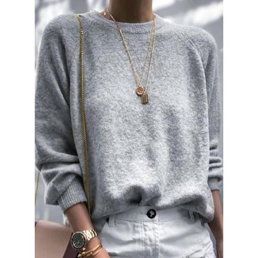 Sweter damski Odzież Damska BQ szary ESCP