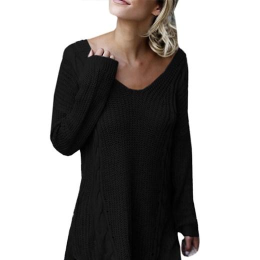 Sweter damski Odzież Damska LK czarny FDAW